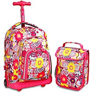 Школьный рюкзак на колесах JWORLD LOLLIPOP цвет Маки