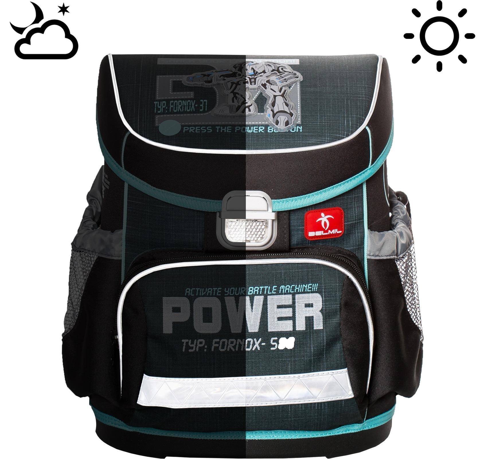 Ранец Belmil 405-33 MINI-FIT FOOTBALL + мешок и пенал + фломастеры, - фото 11