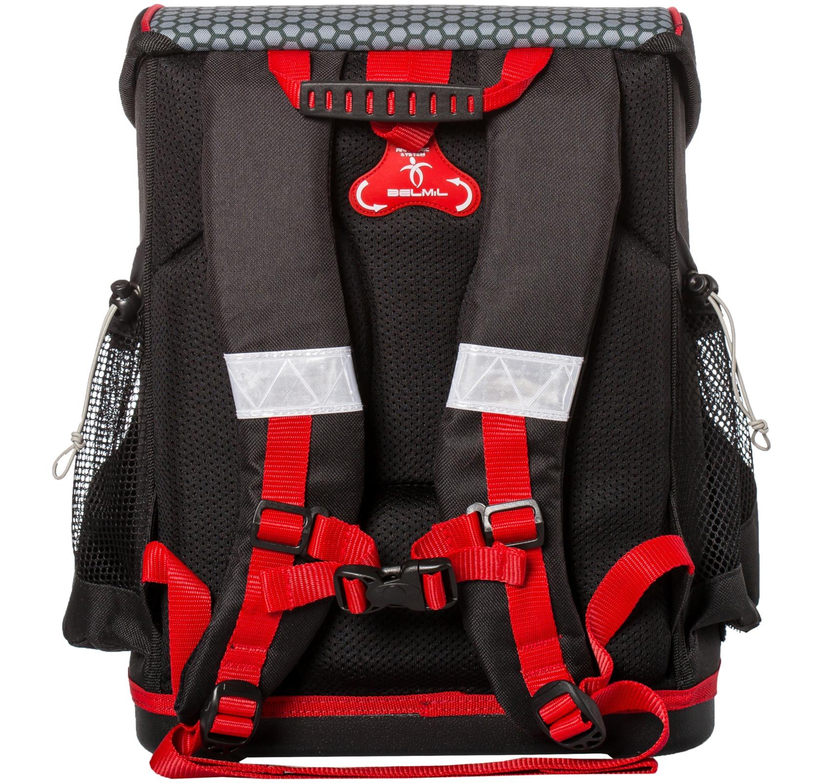 Ранец Belmil 405-33 MINI-FIT FOOTBALL + мешок и пенал + фломастеры, - фото 7