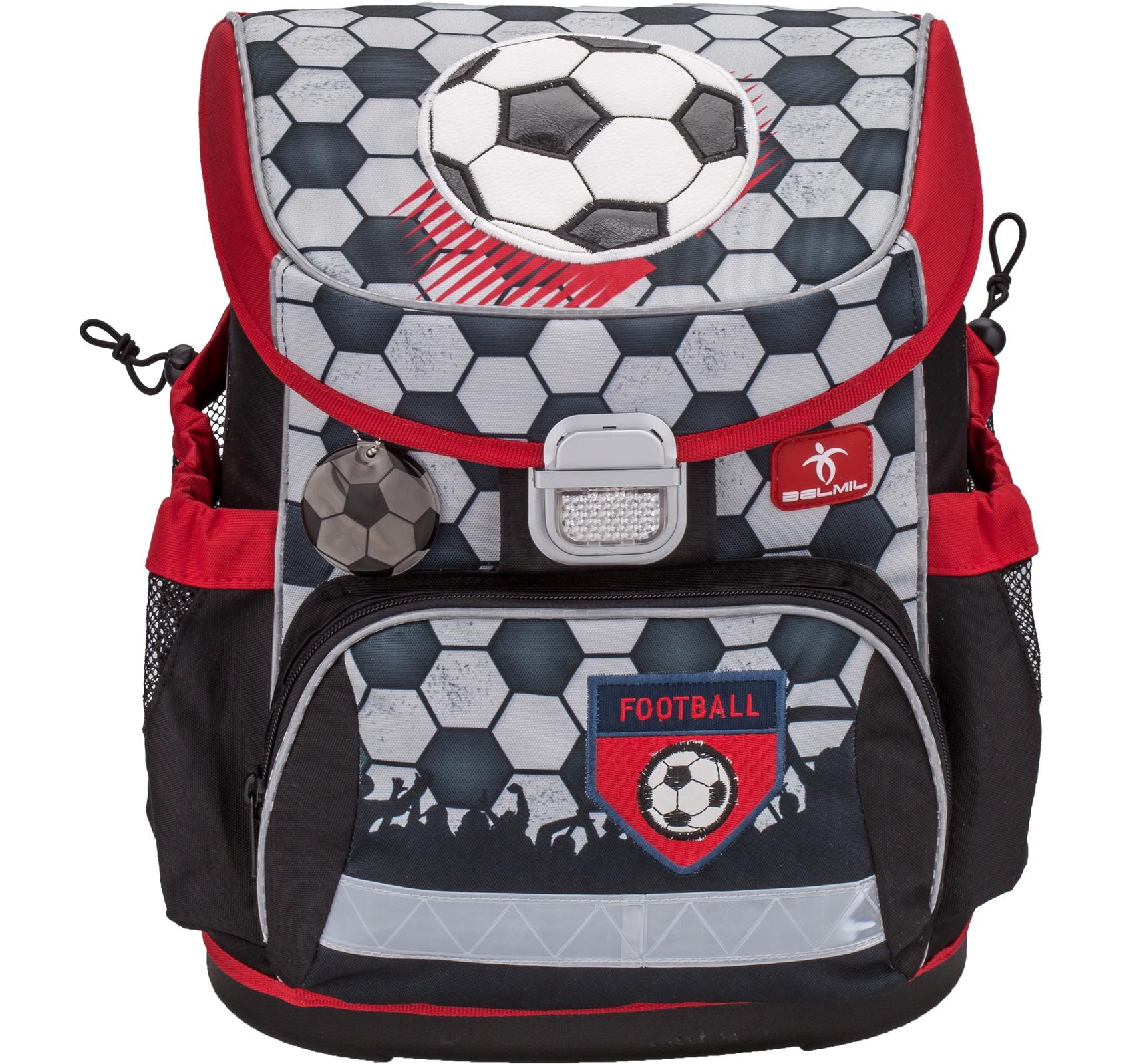 Ранец Belmil 405-33 MINI-FIT FOOTBALL + мешок и пенал + фломастеры, - фото 1
